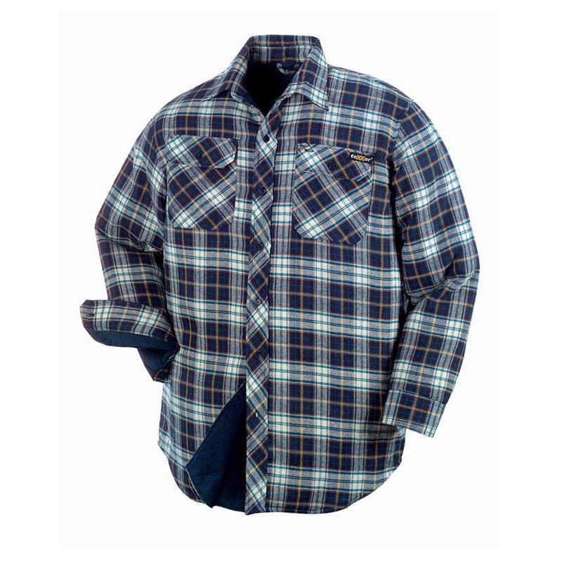 stersund thermohemd mit baumwollfutter farbe blau kariert vers. Black Bedroom Furniture Sets. Home Design Ideas