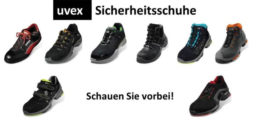 quite nice 18bca f35de Schuhgröße für Uvex Sicherheitsschuhe auswählen