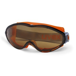 uvex Schutzbrille ultrasonic Vollsichtbrille 9302247 in grau/orange