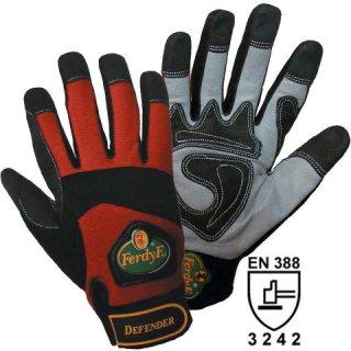 Damen Gartenhandschuhe Mechanics-Handschuhe Defender rot schwarz Montage