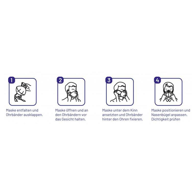 5x Masken Schutz Filtermaske Maske Gesichtsschutz Direktversand aus Deutschland